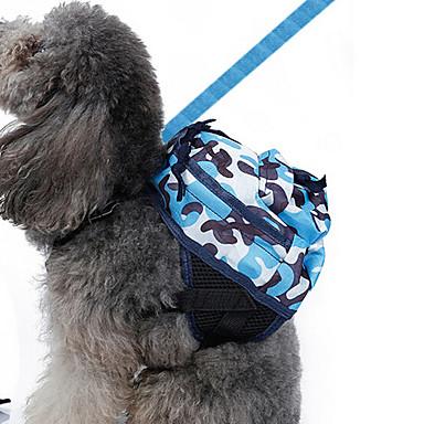 Cachorro mochila Roupas para Cães camuflagem Azul Tecido Oxford Ocasiões Especiais Para animais de estimação Homens Mulheres Clássico