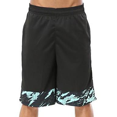 Homens Shorts de Corrida Exercício e Atividade Física Corrida Algodão Preto Cinzento Roxo Vermelho Verde L XL XXL XXXL