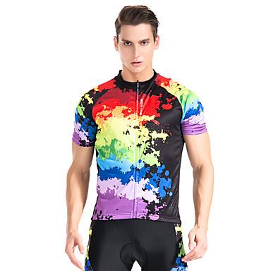 WOSAWE Manga Curta Camisa para Ciclismo - Preto Moto Camisa / Roupas Para Esporte, Secagem Rápida, Respirável, Redutor de Suor, Verão,
