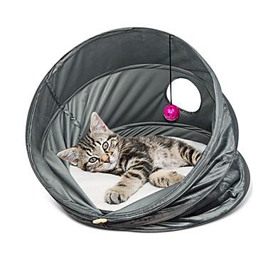 Gato Camas Animais de Estimação Cestos Sólido Respirável / Dobrável Cinzento Para animais de estimação