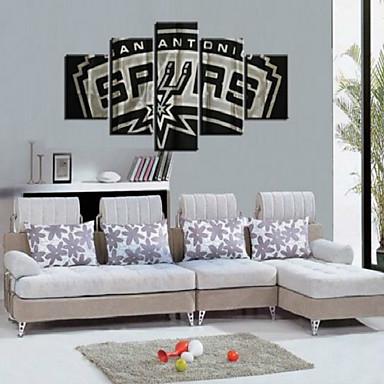 Reprodukce umění Abstraktní Moderní,Pět panelů Plátno Horizontálně Tisk Art Wall Decor For Home dekorace