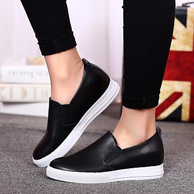 Blanc Talon Nappa Mocassins 05815097 et Automne Confort Noir Argent Femme Chaussons Printemps D6148 Plat Cuir Chaussures BvFxn7p