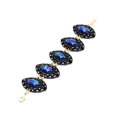 Mulheres Pulseiras em Correntes e Ligações Fashion Liga Oval Jóias Presentes de Natal Jóias de fantasia Azul