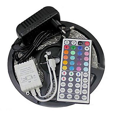 ZDM® 5m Flexible LED-Leuchtstreifen / Lichtsets / Leuchtbänder RGB 300 LEDs 3528 SMD 1 x 2A Netzteil RGB Schneidbar / Wasserfest / Verbindbar 12 V 1set / IP65 / Selbstklebend