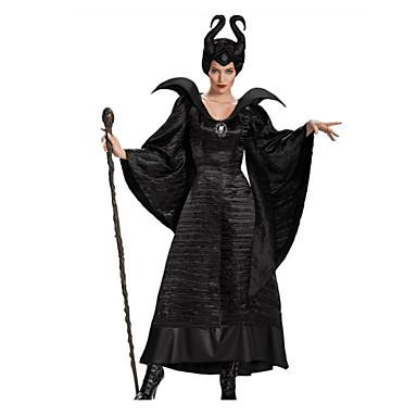 Maléfico Fantasias de Cosplay Mulheres Dia Das Bruxas Carnaval Festival / Celebração Trajes da Noite das Bruxas Côr Sólida