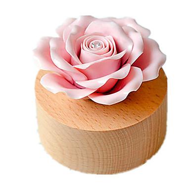 Caixa de música Cerâmica Madeira Rose Rotativo O Castelo no Céu Presente Unisexo Dom