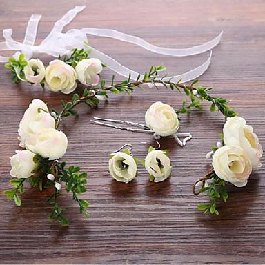 Liga Flores Pele de cabelo 1 Casamento Ocasião Especial Capacete
