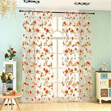 2 윈도우 치료 네오클래식 유럽의 , 꽃장식 거실 폴리에스터 자료 쉬어 커튼 차양 홈 장식 For 창문