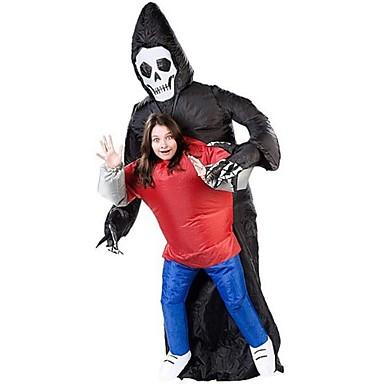 Esqueleto / Caveira / Ceifador Fantasias de Cosplay / Artigos de Halloween / Baile de Máscara Cosplay de Filmes Collant / Pijama Macacão / Ventilador Dia Das Bruxas / Carnaval / Dia da Criança