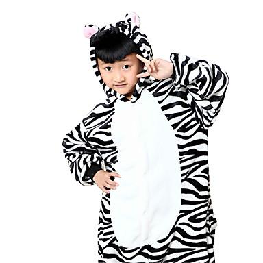 للأطفال بيجاما كيجورومي حمار الوحش بيجاما ونزي فلانل الصوف أسود / أبيض تأثيري إلى الأولاد والبنات ملابس للنوم الحيوانات رسوم متحركة هالوين عطلة / عيد