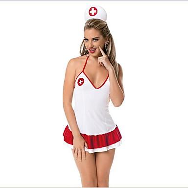 Ternos de Empregadas Enfermeiras Fantasias de Cosplay Mulheres Natal Dia Das Bruxas Carnaval Oktoberfest Ano Novo Festival / Celebração