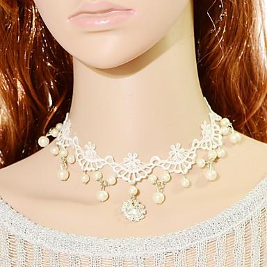 Dámské Obojkové náhrdelníky imitace Sapphire Crown Shape Krajka Módní turečtina Klasický Šperky ProSvatební Párty Zvláštní příležitosti