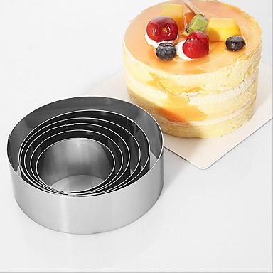 Ferramentas bakeware Aço Inoxidável Amiga-do-Ambiente / Anti-Aderente / Férias Bolo Molde 1conjunto