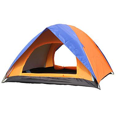 2 사람 텐트 더블 베이스 캠핑 텐트 원 룸 접이식 텐트 수분 방지 방수 비 방지 통기성 용 하이킹 캠핑 야외 여행 <1000mm 유리섬유 옥스퍼드 CM