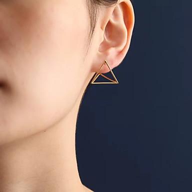 Mulheres Brincos Curtos - Euramerican Fashion Dourado Prata Triângulo Forma Geométrica Brincos Para Diário