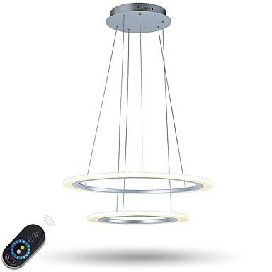 أضواء معلقة ضوء محيط مطلي معدن أكريليك تخفيت, LED, ديمابل مع جهاز التحكم عن بعد 110-120V / 220-240V ديمابل مع جهاز التحكم عن بعد وشملت مصدر ضوء LED / LED متكاملة
