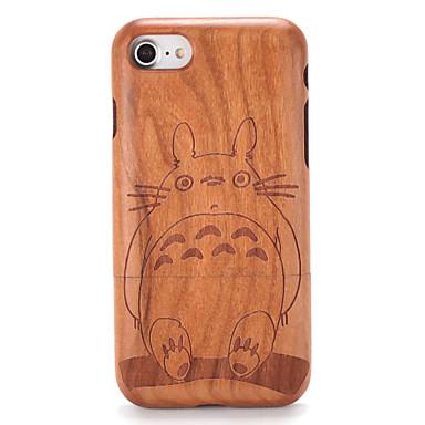 Capinha Para Apple iPhone 7 Plus iPhone 7 Estampada Com Relevo Capa traseira Madeira Desenho Animado Rígida De madeira para iPhone 7 Plus