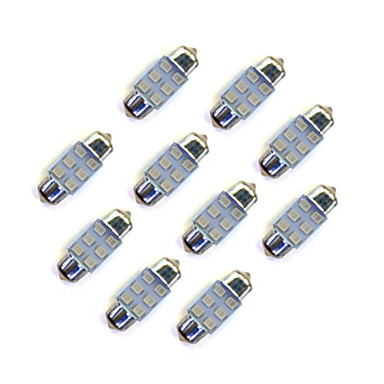 10pcs Festoon سيارة لمبات الضوء SMD LED 35 lm LED أضواء الخارج من أجل