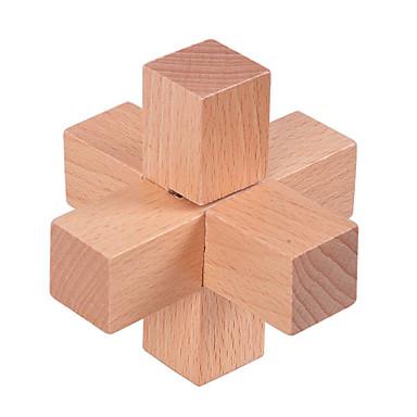 나무 퍼즐 IQ 두뇌 운동 나무 블럭 루반 락 IQ 테스트 재미 나무 클래식