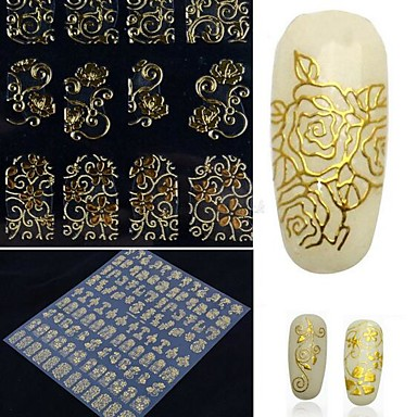 1 pcs Chique & Moderno / Elegante & Luxuoso / Fashion Etiquetas de unhas 3D Nail Art Design Diário