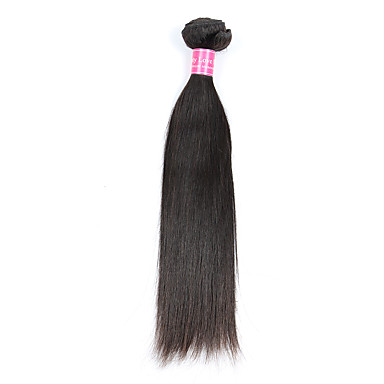 1 pacote Cabelo Brasileiro Liso Cabelo Humano Cabelo Humano Ondulado Tramas de cabelo humano Extensões de cabelo humano / Reto