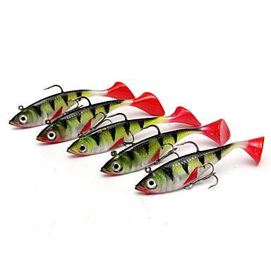 5 pcs خدع الصيد Shad السيليكون الغرق طعم الاسماك إغراء الصيد