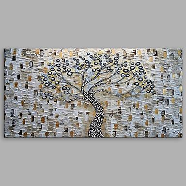 Pintura a Óleo Pintados à mão - Paisagens Abstratas Modern Incluir moldura interna / Lona esticada