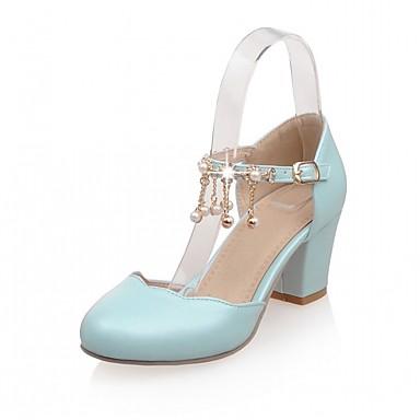 8c8825ecf4911 Similicuir à Chaussures Talons Confort Chaussures Nouveauté Femme  Polyuréthane Bottier de 05868185 club Eté Automne Talon ...