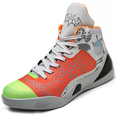 رجالي أحذية الراحة PU الربيع / الخريف أحذية رياضية كرة السلة أخضر / أزرق / أسود وأبيض / دانتيل