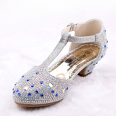 Para Meninas Sapatos Courino / Microfibra Primavera Verão Conforto / Inovador / Sapatos para Daminhas de Honra Rasos Caminhada Gliter com