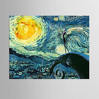 Pintura a Óleo Pintados à mão - Abstrato Clássico Modern Tela de pintura