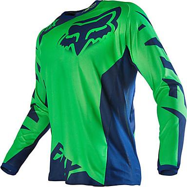 abordables Vestes de Moto-T-shirt hors-route de moto de renard à manches longues à manches longues et à manches longues