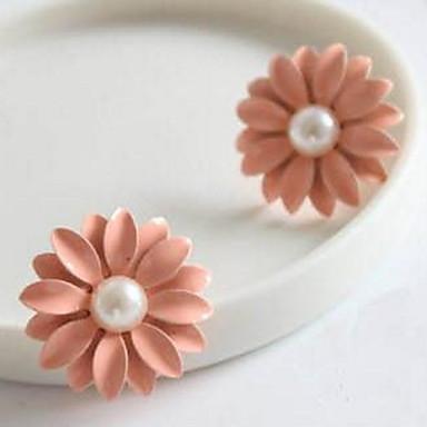 Herrn Damen Tropfen-Ohrringe Imitierte Perlen Personalisiert Blumig Geometrisch Kreisförmiges Einzigartiges Design Anhänger Stil Tier