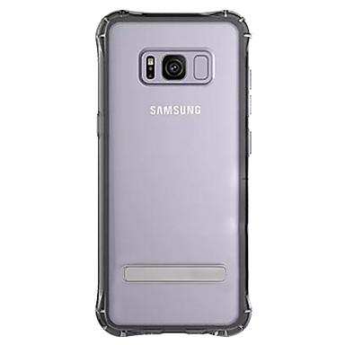 Capinha Para Samsung Galaxy S8 Plus / S8 Antichoque / Com Suporte / Transparente Capa traseira Sólido Rígida TPU para S8 Plus / S8