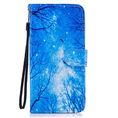Capinha Para Samsung Galaxy S8 Plus S8 Porta-Cartão Carteira Com Suporte Flip Magnética Estampada Capa Proteção Completa Árvore Rígida PU