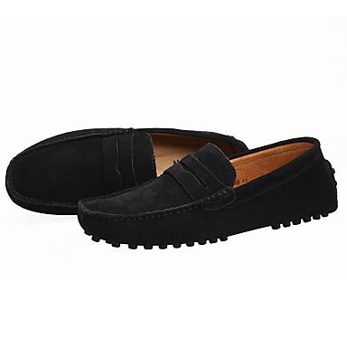 povoljno SHENN-Muškarci Formalne cipele Brušena koža Ležerne prilike Natikače i mokasinke Žutomrk / Navy Plava / Burgundac / Vanjski / Ured i karijera / Udobnost mamaca / EU40