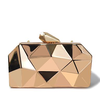 Damen Taschen PU Abendtasche Metallic Solide Gold / Silber / Silber Gray