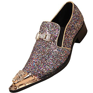 Homens sapatos Pele Napa Primavera Outono Sapatos formais Oxfords para Casual Escritório e Carreira Ao ar livre Festas & Noite Castanho