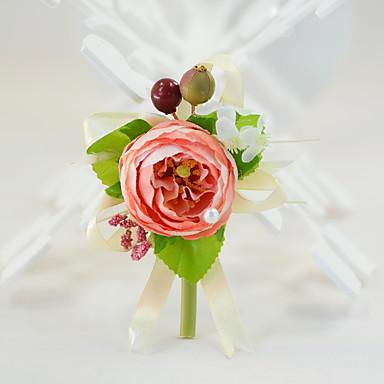 Bouquets de Noiva Alfinetes de Lapela Festa / Noite Noivado Chá de Cozinha Festa/Coquetel Seda Algodão 1.57