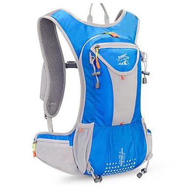 hesapli Bisiklet Çantaları-Bisiklet Sırt Çantası 15 L - Çok Fonksiyonlu Su Geçirmez Toz Geçirmez Açık hava Kamp & Yürüyüş Tırmanma Serbest Sporlar YAKUT Mor Fuşya