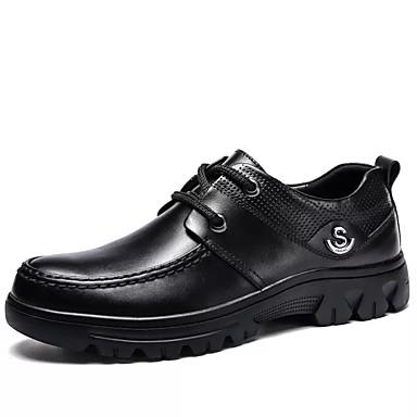 للرجال أحذية رسمية Leather نابا خريف / شتاء كاجوال أوكسفورد أسود / الحفلات و المساء