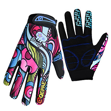 QEPAE Sports Gloves Bike Gloves / Cycling Gloves Keep Warm Ultraviolet Resistant Wearproof Anti-skidding Reduces Chafing Full-finger