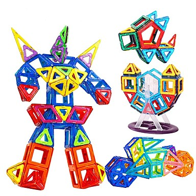 Bloques magnéticos Azulejos magnéticos Bloques de Construcción 168 pcs Coche Robot Vehículo de construcción compatible Legoing Regalo Magnética Chico Chica Juguet Regalo