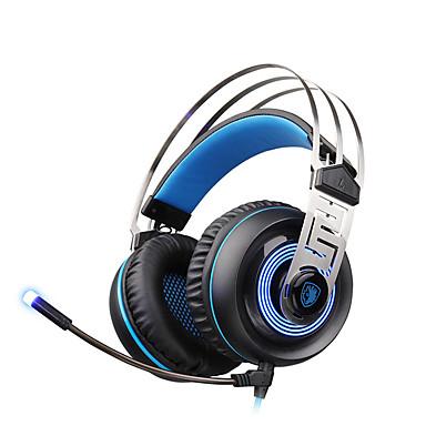 A7 Sobre o ouvido / Bandana Com Fio Fones Dinâmico Plástico Games Fone de ouvido Com controle de volume / Com Microfone / Isolamento de