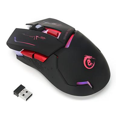 HXSJ 2.4G sem fio Mouse para Jogos Óptico 6 pcs chaves Luz LED 4 níveis de DPI ajustáveis 2400 dpi