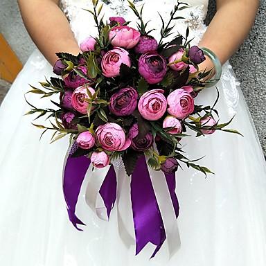 زهور الزفاف مستدير الورود باقات حفلة/سهرة ساتين