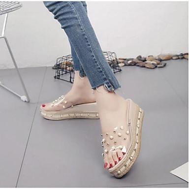 Dámské Sandály S páskem Léto PU Ležérní Zlatá Černá 2.5 - 4.5 cm