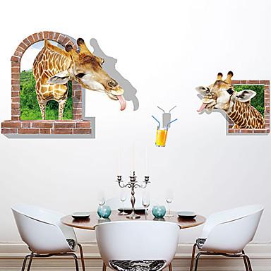 데코레이티브 월 스티커 - 플레인 월스티커 / 3D 월 스티커 동물 / 패션 / 3D 거실 / 침실 / 다이닝룸