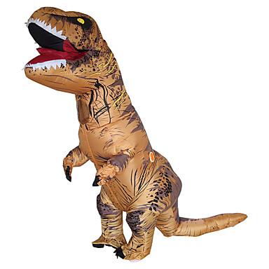 Dinossauro Fantasias de Cosplay Impermeável Fantasia Inflável Artigos de Halloween Cosplay de Filmes Marron Collant / Pijama Macacão