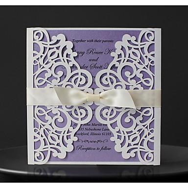 abordables Faire-part mariage-Plis Fenêtre Invitations de mariage 50 - Cartes d'invitation / Echantillons d'invitation / Cartes d'anniversaire Style moderne Papier durci